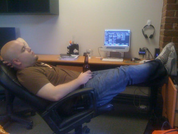 A 2010 picture of me on a Friday when I was a freelancer. Thanks Mathieu Chartier.