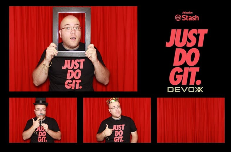 Myself making funny poses at the DevoxxUK photo booth