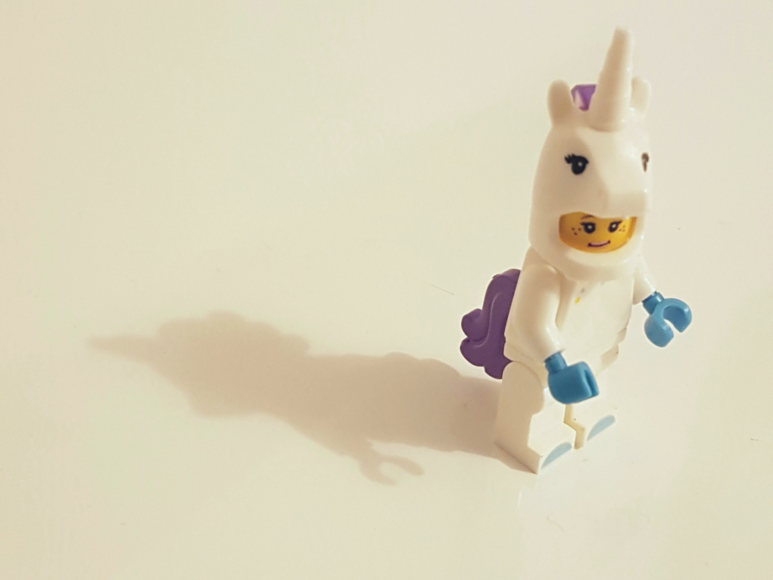A lego in an unicorn costume