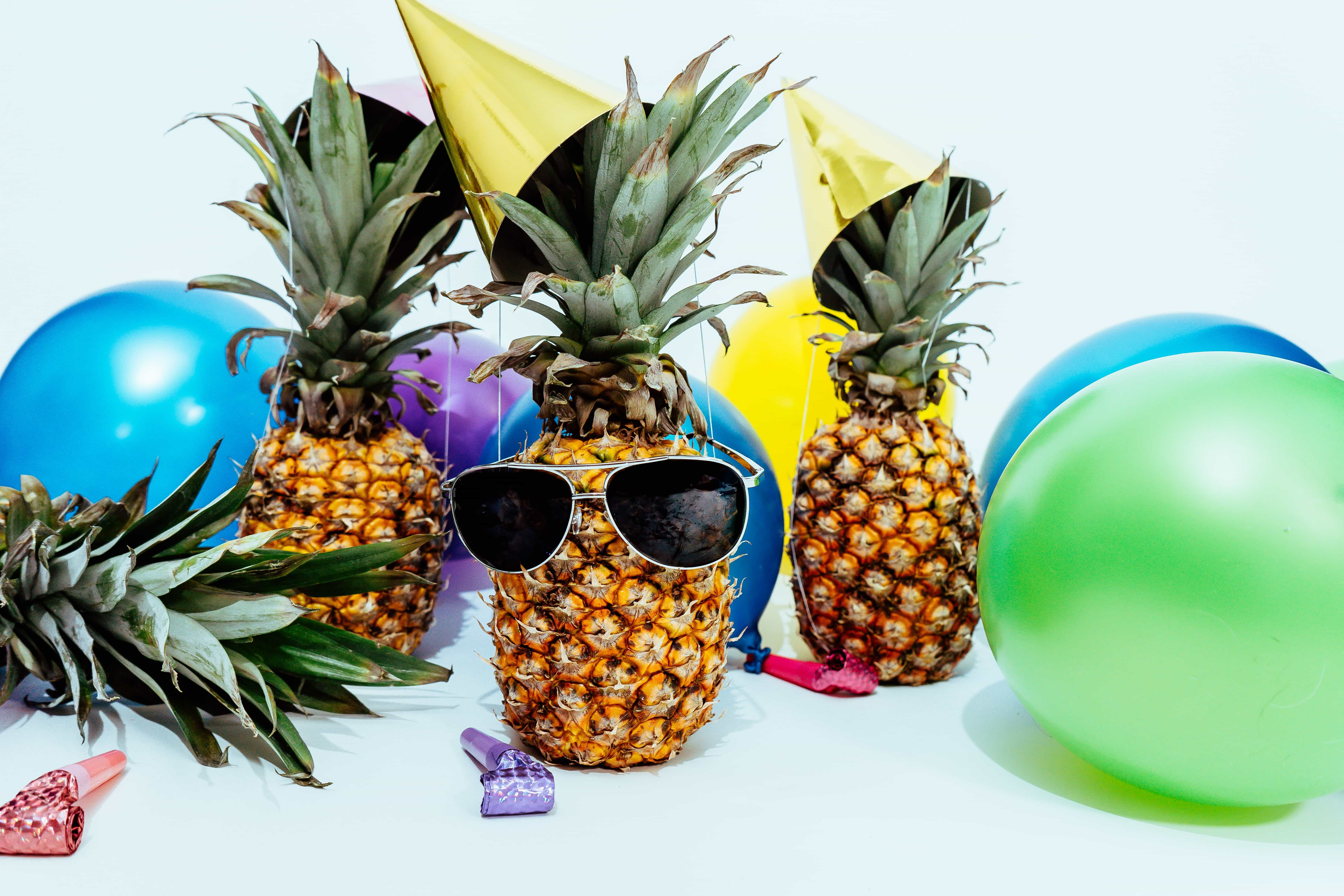 pineapples having a party