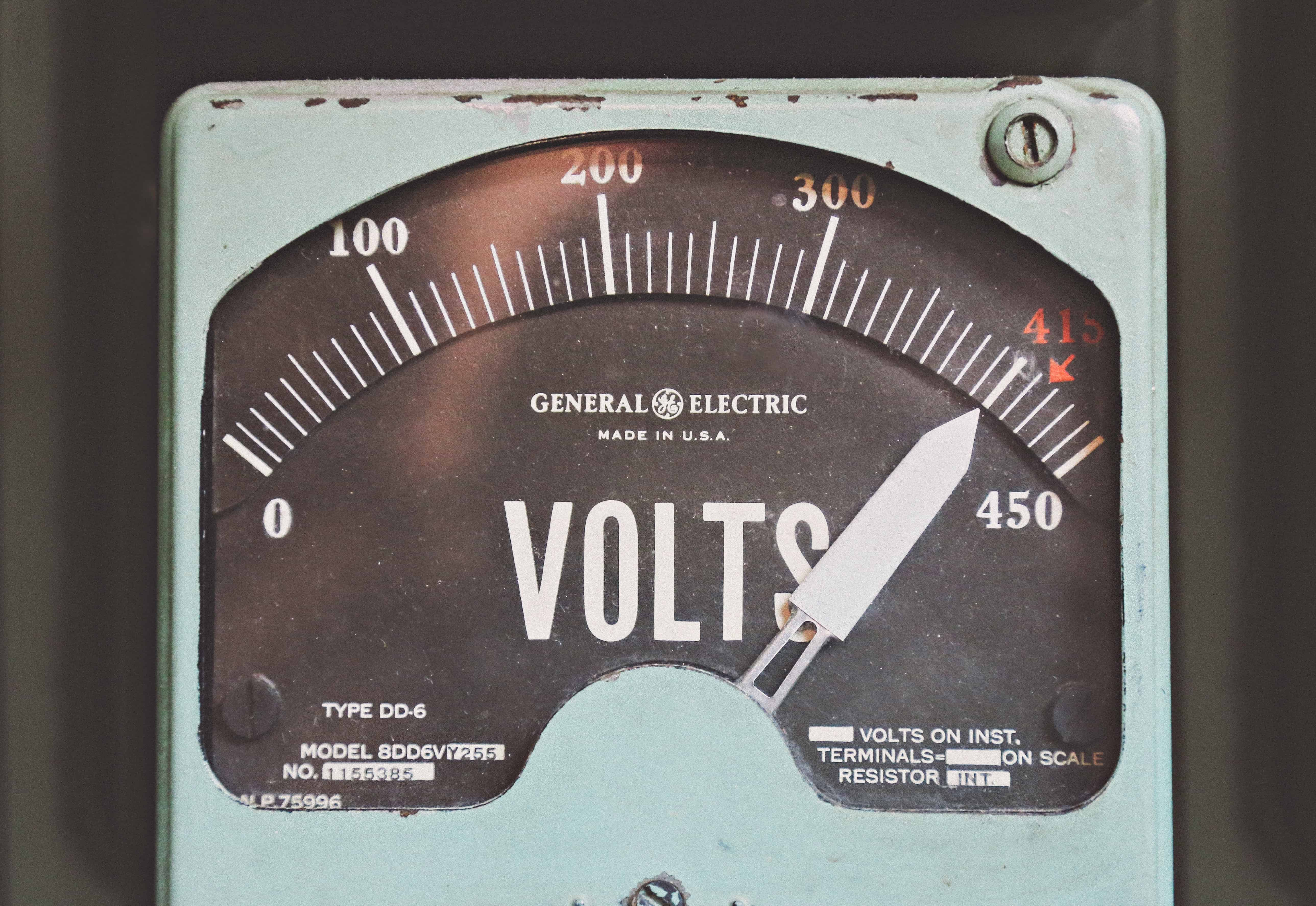 an old voltmeter